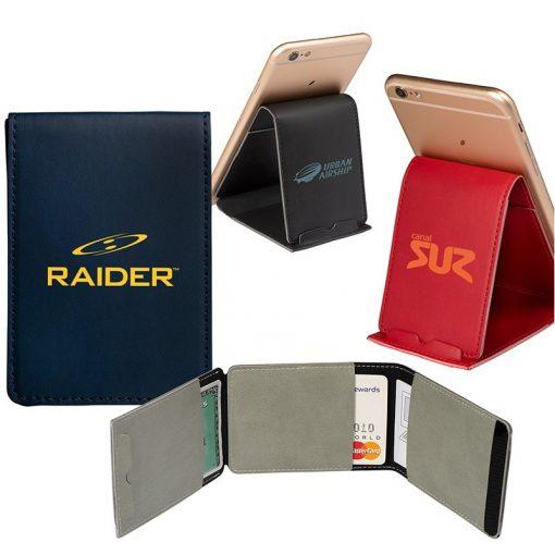 Folding Phone Holder/Stand w/Pocket