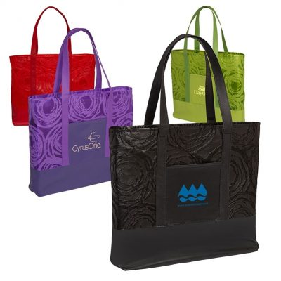 Textured Non-Woven Tote Bag w/PU Base