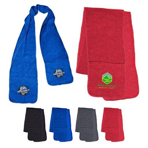 Fleece Scarf w/Pockets
