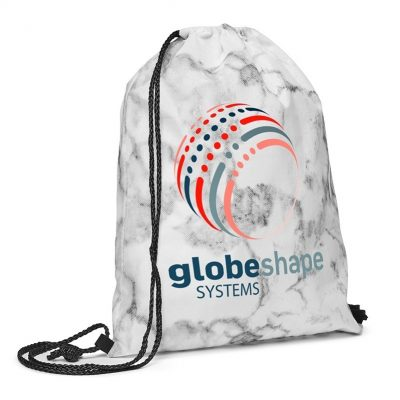 Marble Non-Woven Drawstring Backpack