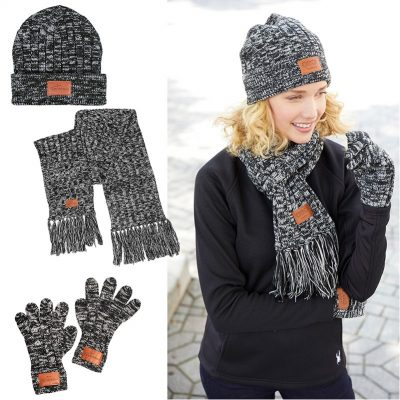 Prime Line® Leeman™ 3-in-1 Heathered Knit Winter Set
