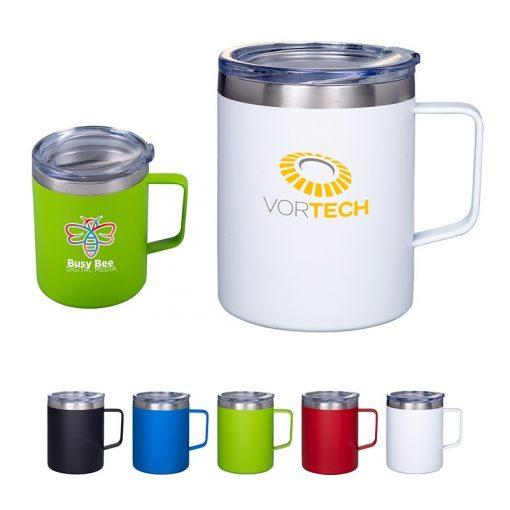 12 Oz. Vacuum Insulated Coffee Mug with Handle