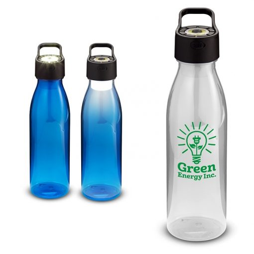 24 Oz. Water Bottle with Rechargeable COB Light in Lid