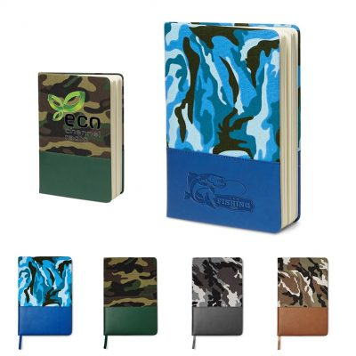 """5 x 8"" Hard Cover Camo Canvas Journal"