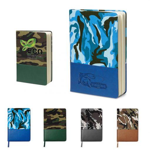 "5"" x 8"" Hard Cover Camo Canvas Journal"
