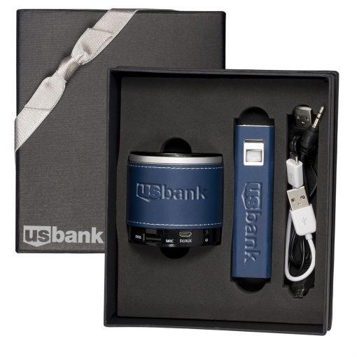 Tuscany™ Power Bank and Wireless Speaker Gift Set