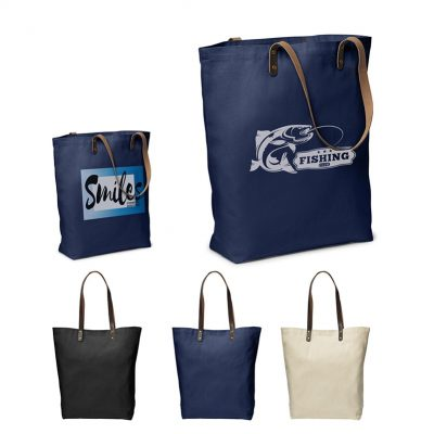 Urban Cotton Tote W/ PU Leather Handles