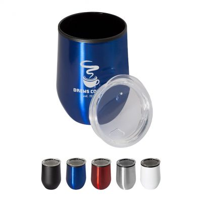 12 Oz. Budget Stemless Wine Cup with Lid
