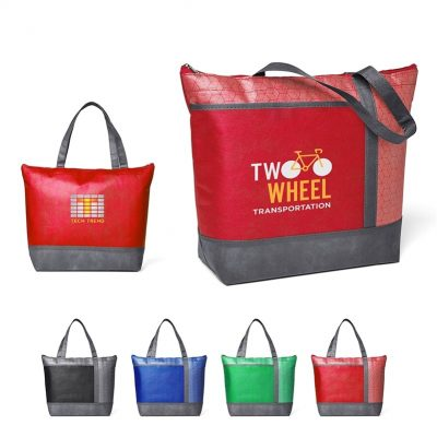 Hexagon Pattern Non-Woven Cooler Tote