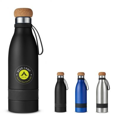 19 Oz. Double Wall Vacuum Bottle w/Cork Lid