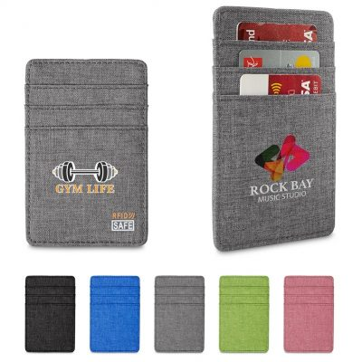 Heathered RFID Wallet w/6 Card Pockets