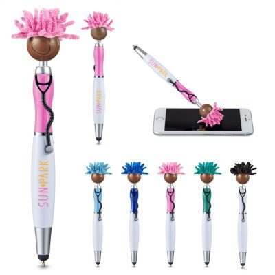 MopToppers® Screen Cleaner w/Stethoscope Stylus Pen - Multi-Cultural Version (Brown Skin Color)