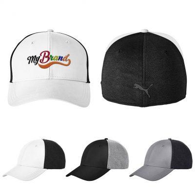 PUMA® Golf Adult Jersey Stretch Fit Cap