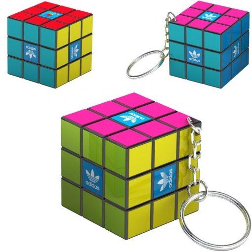 Custom Micro Rubik's® Cube Key Ring (Overseas Direct)