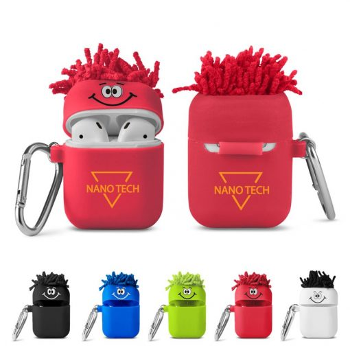 MopToppers® Silicone Earbud Case w/Carabiner