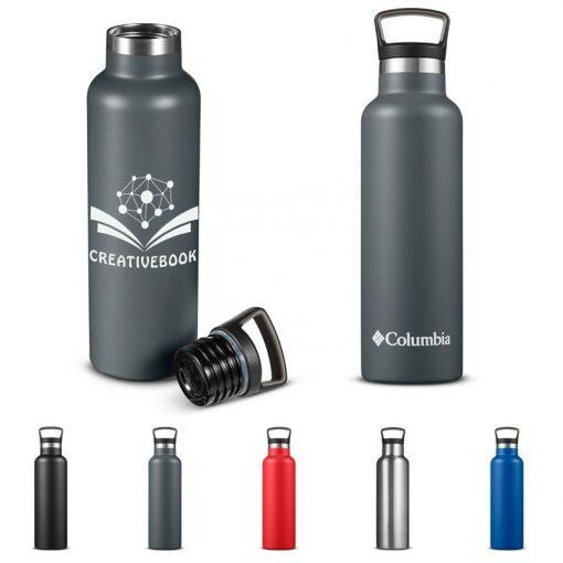 21 Oz. Columbia® Double-Wall Vacuum Bottle w/Loop Top