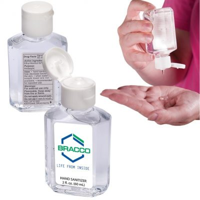 Gel Sanitizer In Square Bottle - 2 Oz.