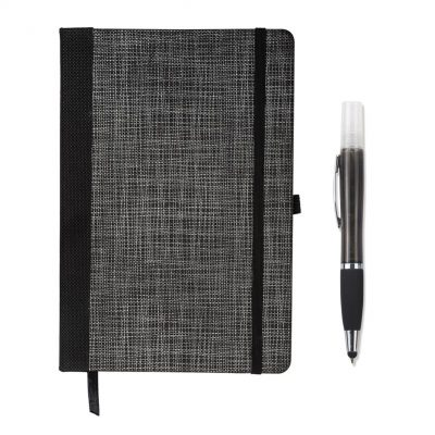 Tonal Non-Woven Journal w/Sanitizer Stylus Pen