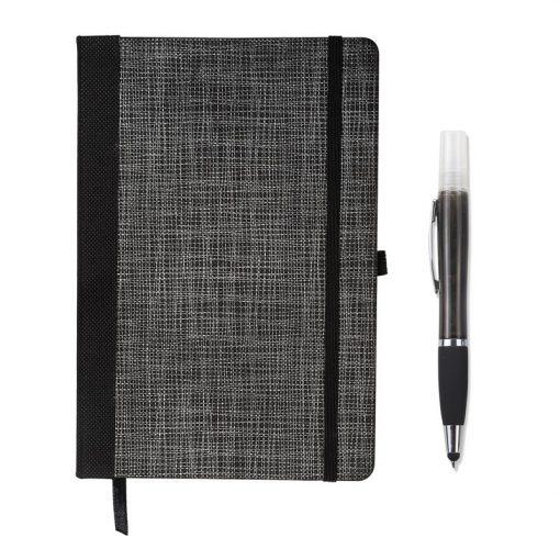Tonal Non-Woven Journal w/Sanitizer Stylus Pen