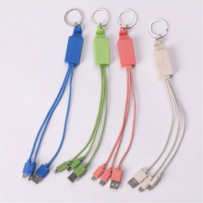 Wheat Straw USB Cable Splitter