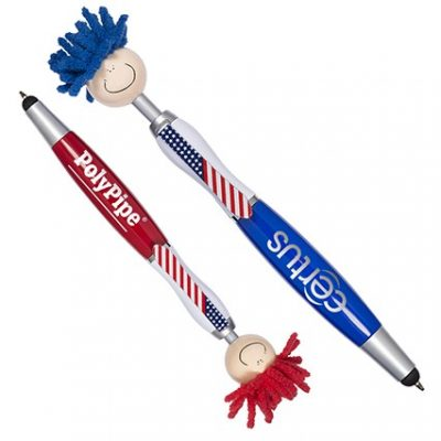 Patriotic MopToppers® Screen Cleaner with Stylus Pen