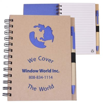 EcoShapes™ Recycled Globe Die Cut Notebook