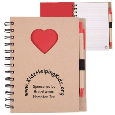 EcoShapes™ Recycled Heart Die Cut Notebook