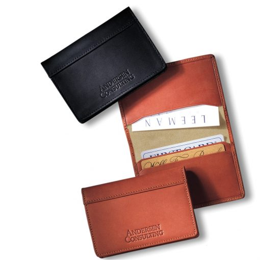 Fire Island™ Sueded Full-Grain Leather Business Card Case