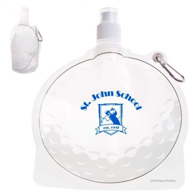 HydroPouch!™ 24 Oz. Golf Ball Collapsible Water Bottle (Patented)