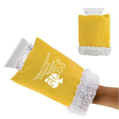 Ice Scraper Hand Mitten (Yellow Only)