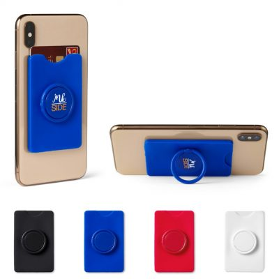 Silicone Card Holder w/Ring Stand