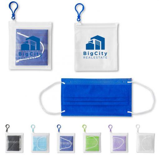 Single 3-Ply Mask Pack in PEVA Zip Bag