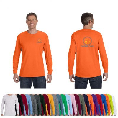 5.3 Oz. Gildan® Heavy Cotton™ Adult Colored Long-Sleeve T-Shirt