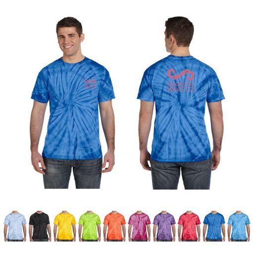 5.4 Oz. 100% Cotton Adult Tie-Dye Spider T-Shirt