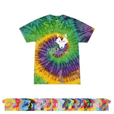 5.4 Oz. 100% Cotton Adult Tie-Dye T-Shirt