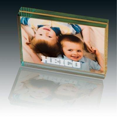 Atrium Glass Medium Desk Photo Frame