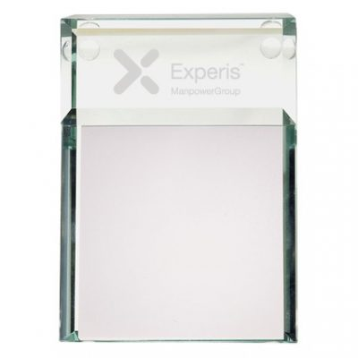 Atrium Glass Message Pad Holder