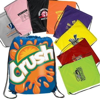 Dye Sub Cinch-Up Drawstring Backpack - SA Express™