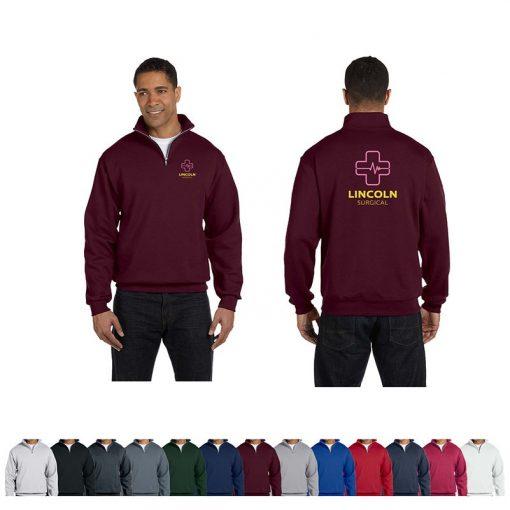 Jerzees® Adult 8 Oz. NuBlend Quarter-Zip Cadet Collar Sweatshirt