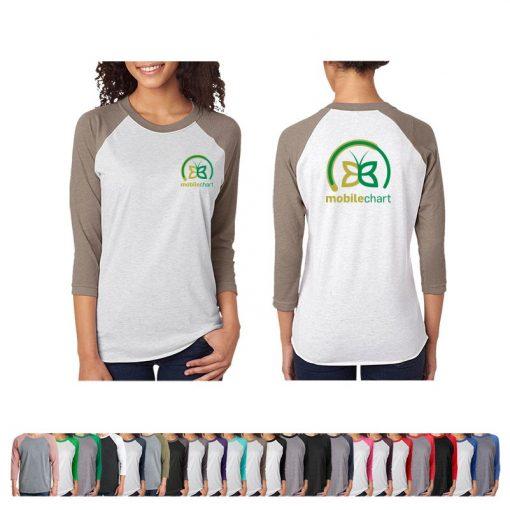Next Level™ Unisex Triblend 3/4 Sleeve Raglan Shirt