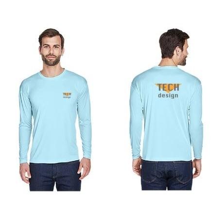 UltraClub® Adult Cool & Dry Sport Long-Sleeve Performance Interlock T-Shirt