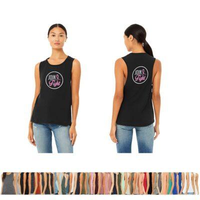 Bella+Canvas® Ladies' Flowy Scoop Muscle Tank