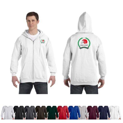 Hanes® Ultimate Cotton® Adult Colored Full-Zip Hooded Sweatshirt