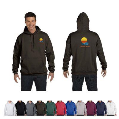 Hanes® Ultimate Cotton® Adult Colored Pullover Hooded Sweatshirt