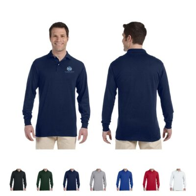 Jerzees® SpotShield™ Adult Colored Long Sleeve Jersey Polo Shirt