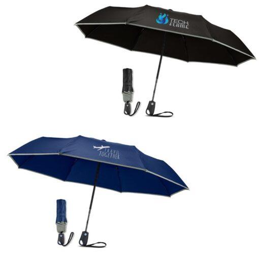 """42"""" Auto Open/Close Umbrella with Reflective Trim"""