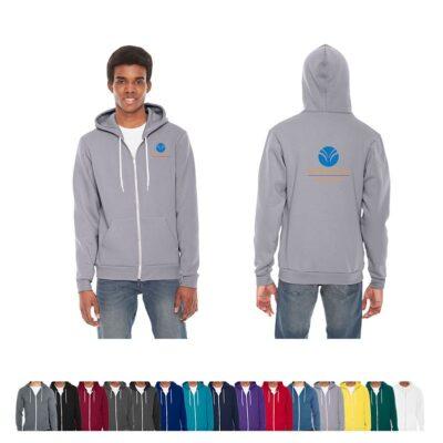 American Apperal® Unisex Colored Flex Fleece Zip Hoodie