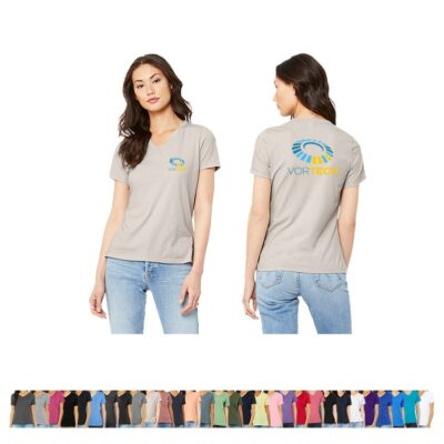 Bella+Canvas® Ladies' Colored Relaxed Jersey Short Sleeve V-Neck T-Shirt