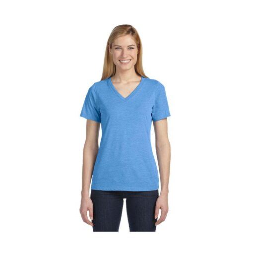 Bella+Canvas® Ladies' Triblend Relaxed Jersey Short Sleeve V-Neck T-Shirt