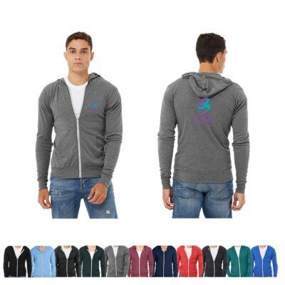 Bella+Canvas® Unisex TriBlend Lightweight Full-Zip Hoodie